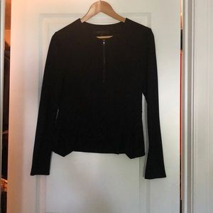 Black BCBG peplum top